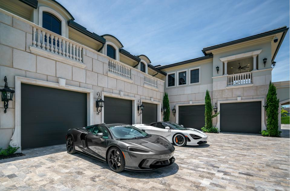 Rockybrook Estate, car collection, luxury garages