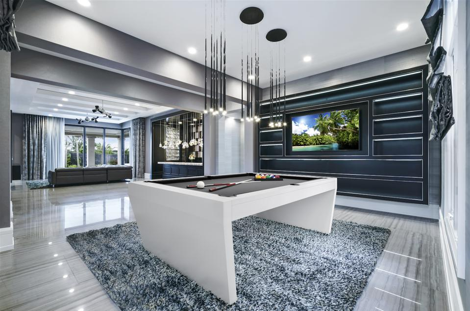 modern, billiards room
