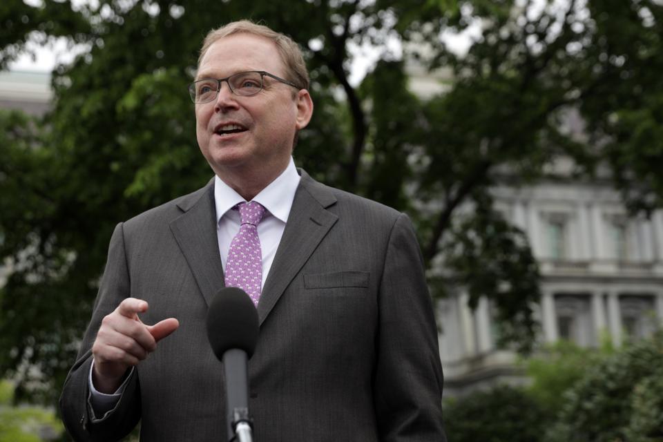 White House Economic Adviser Kevin Hassett Speaks To The Media At The White House