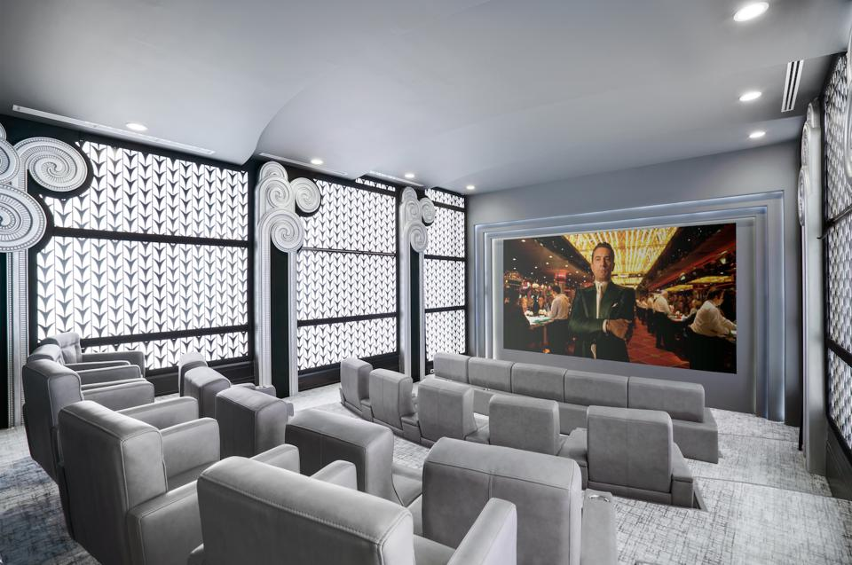 Home theater, stadium seating