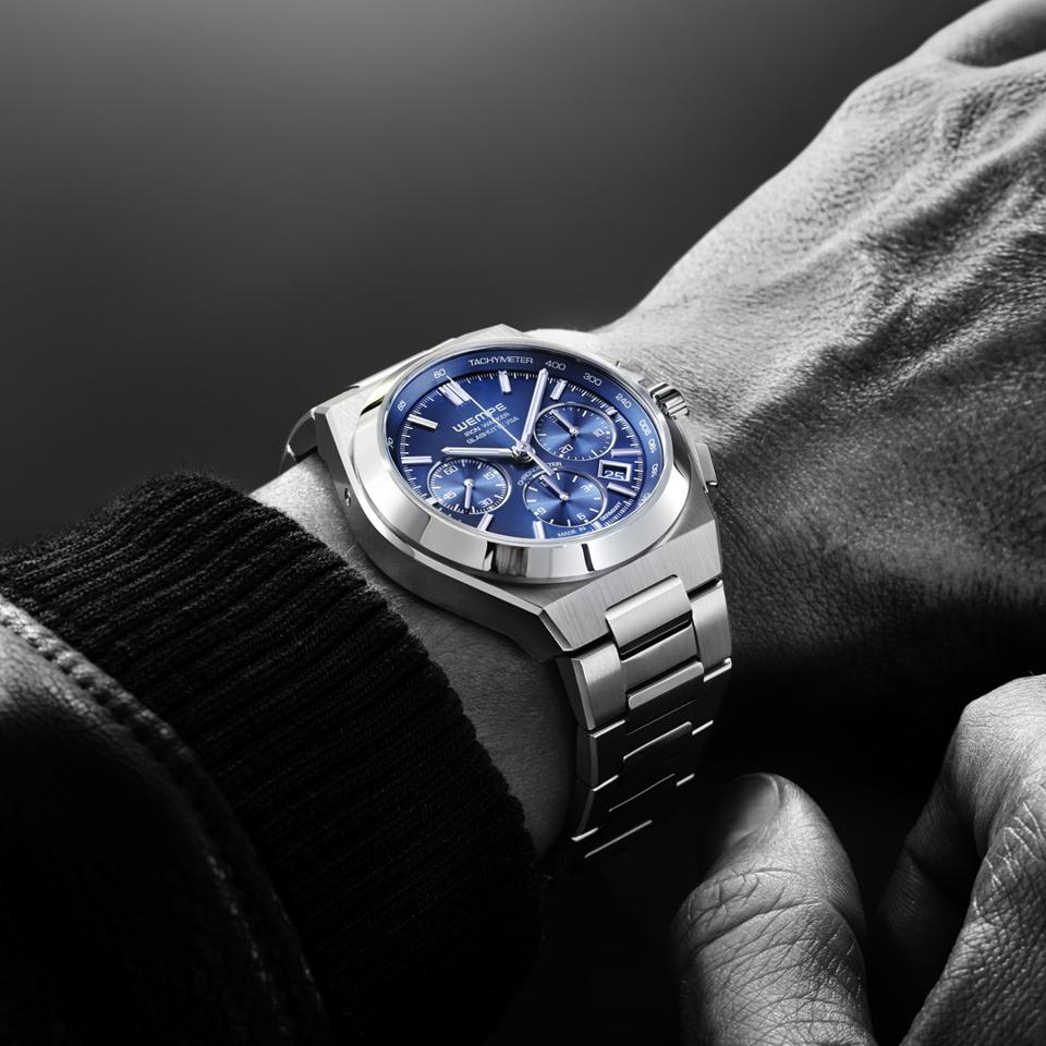 The Iron Walker Automatic Chronograph with blue dial