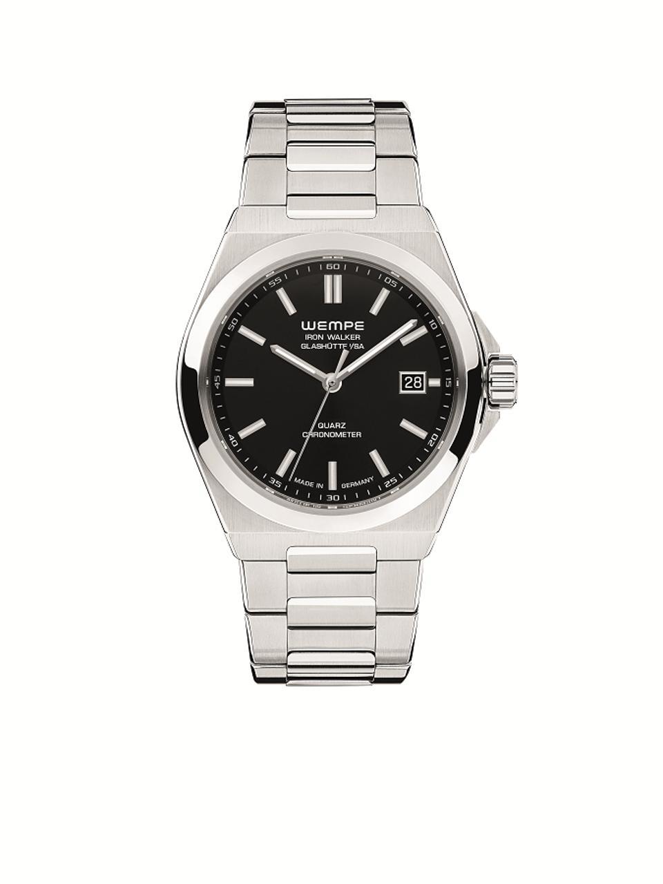 Iron Walker Quartz Men's Watch with black dial
