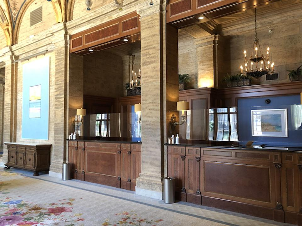 The front desk at The Breakers reimagined