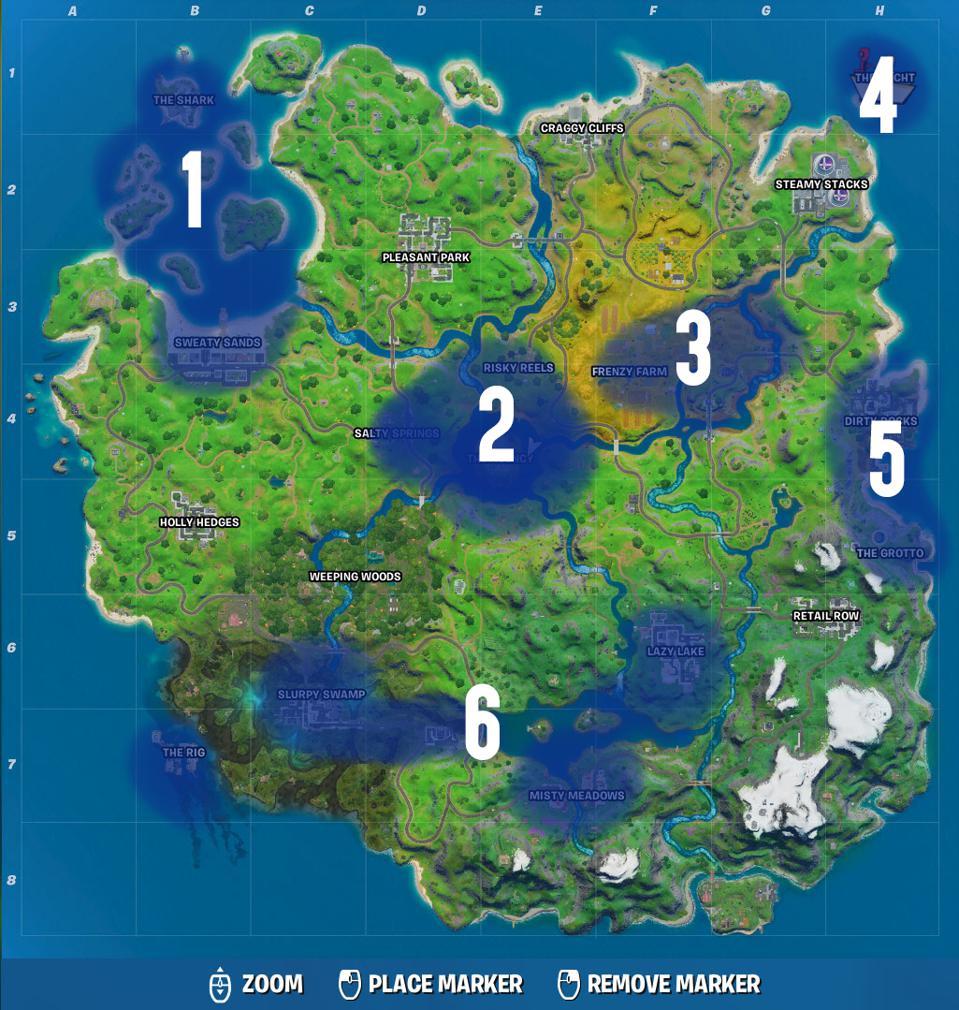 Here Are The Parts Of The 'Fortnite' Map The Doomsday ...
