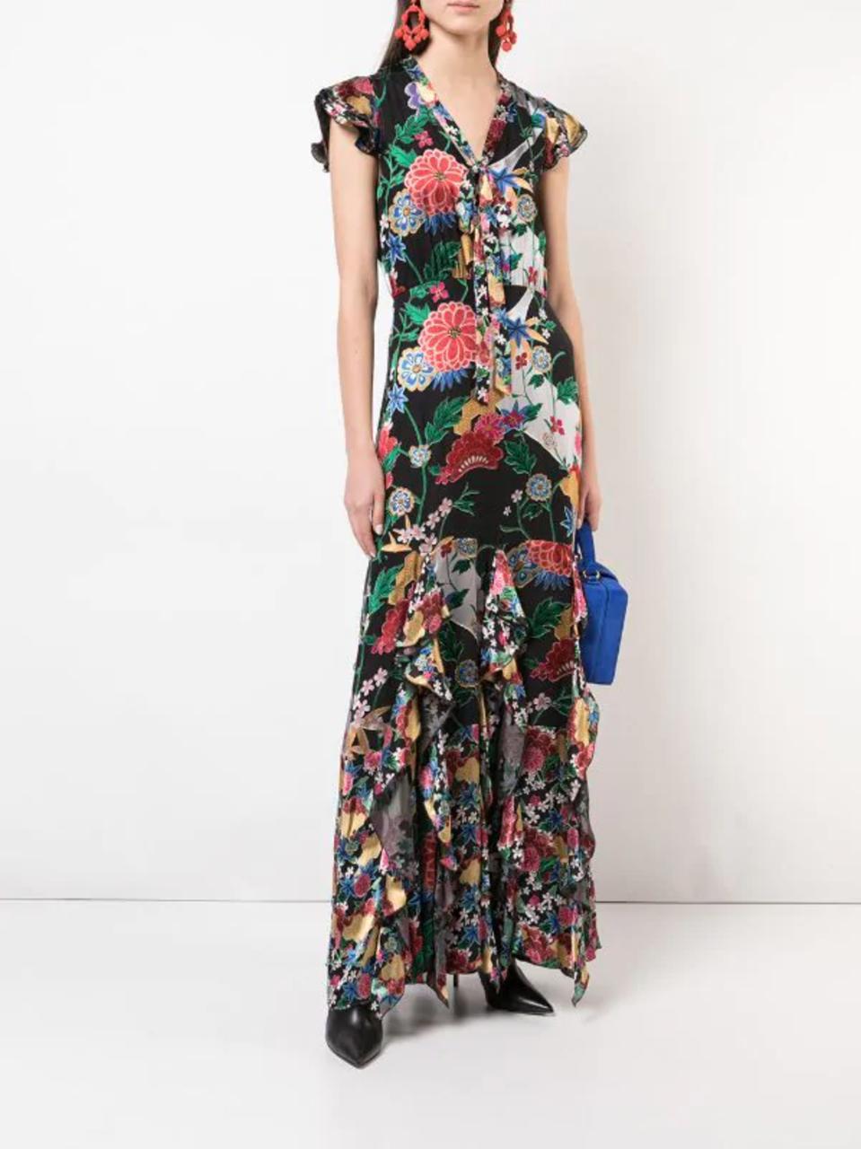 Alice & Olivia floral maxi dress