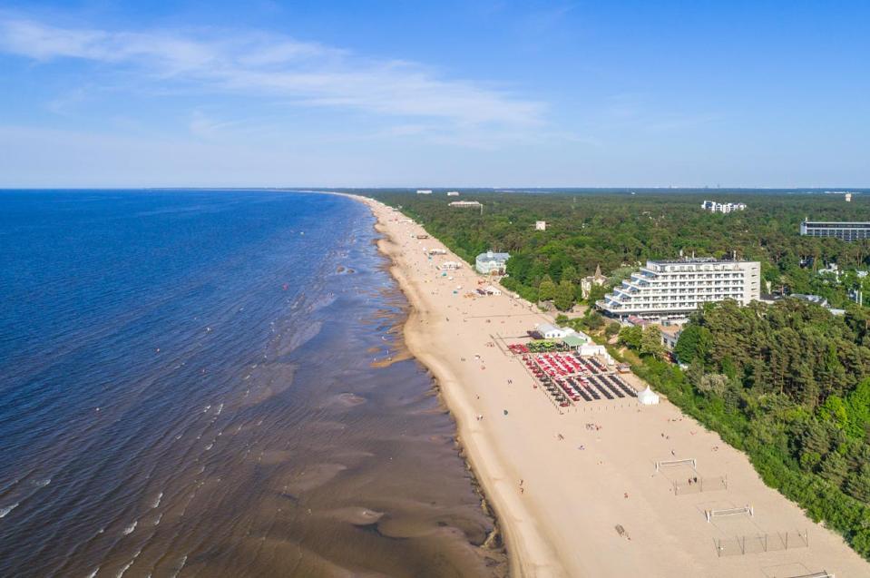 Long sandy beach post coronavirus, Latvia