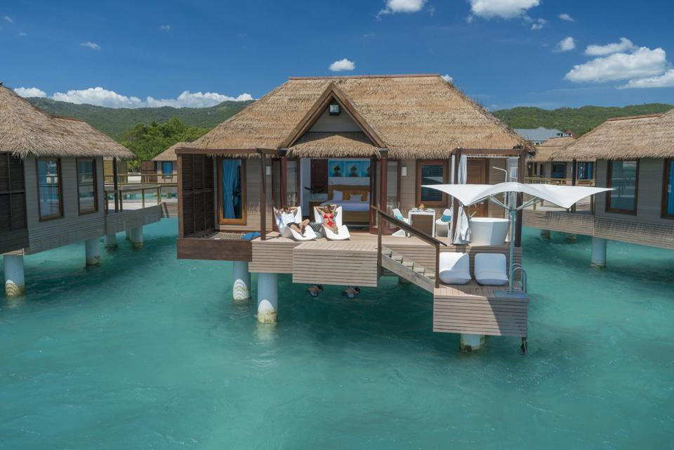 overwater bungalow Jamaica