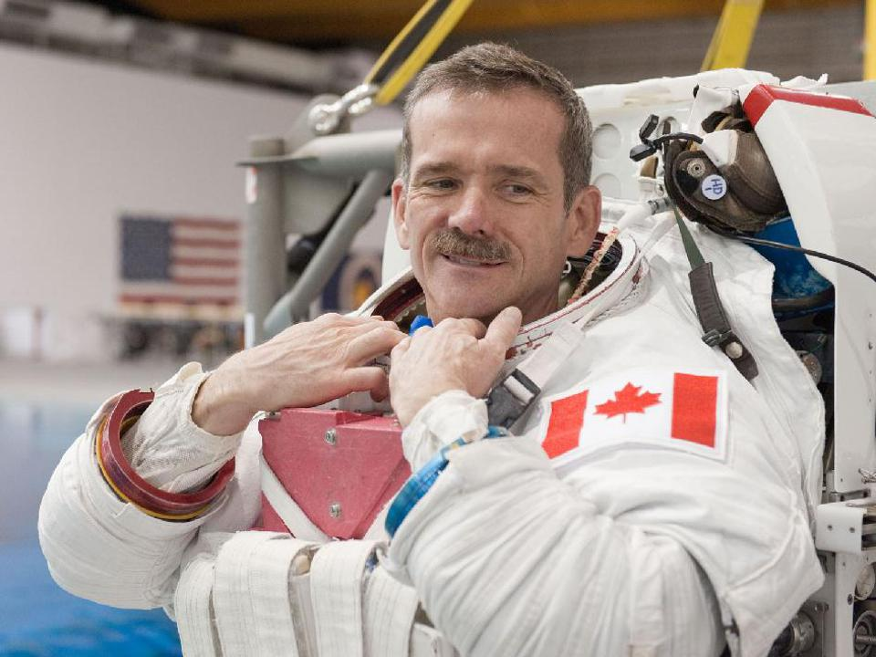 Canadian astronaut Chris Hadfield played guitar and charmed ″Star Trek″ celebrities in space.