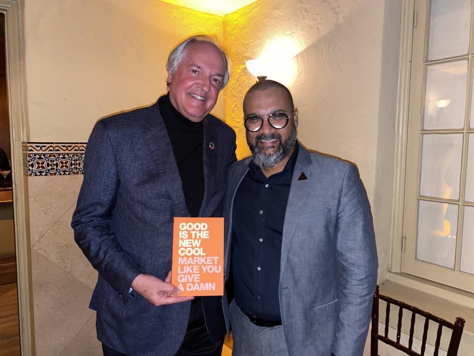 Mr Polman with the writer Afdhel Aziz