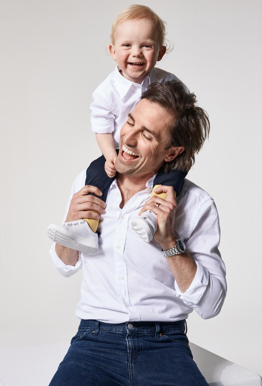 Eton white oxford shirt and matching shirt for kids.