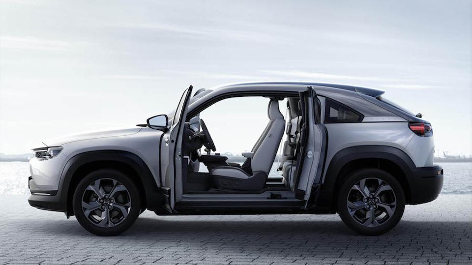 The MX-30 boasts suicide doors similar to those on the RX-8.