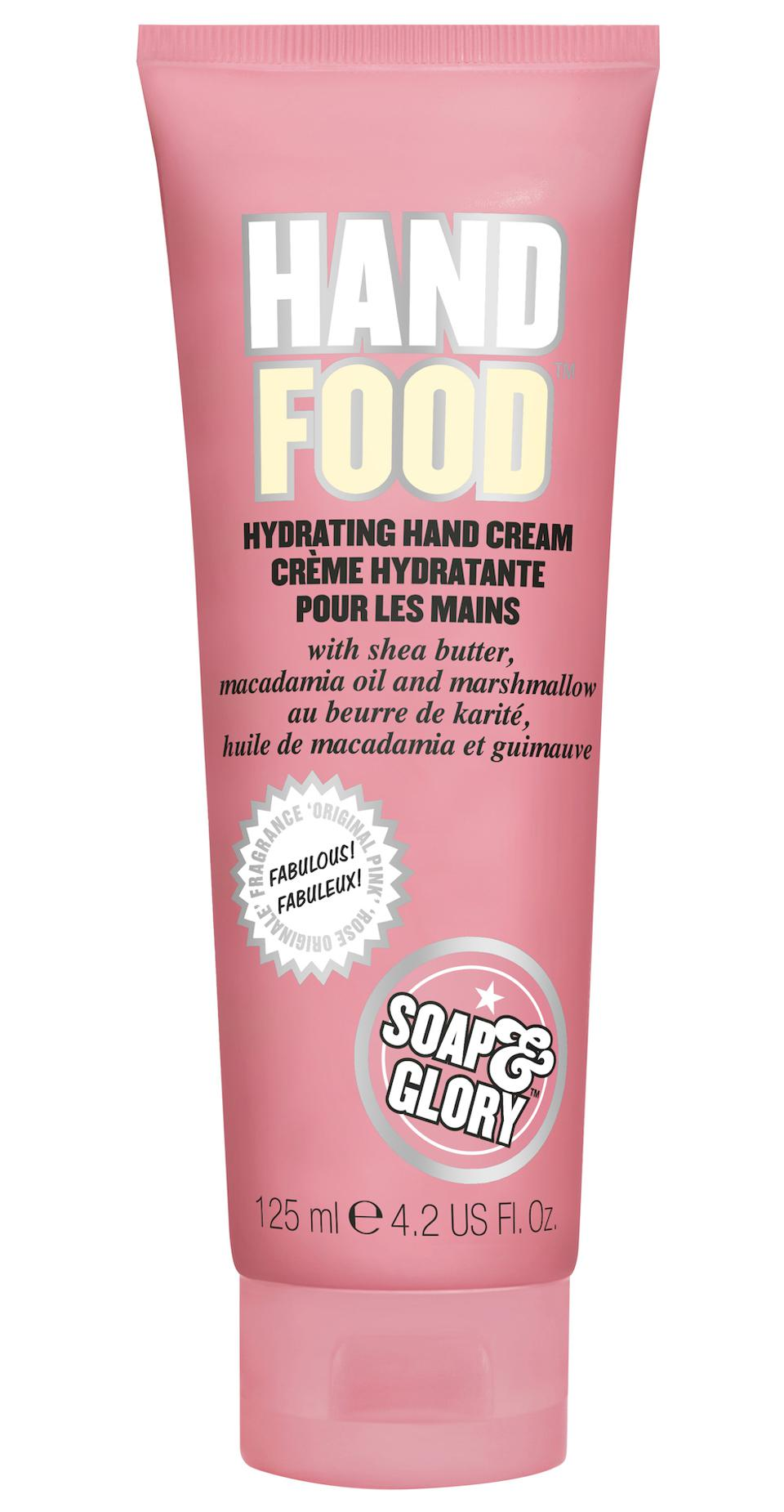 hand cream in pink tube