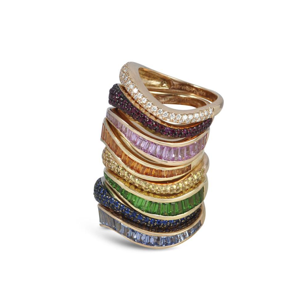 Rings by Kavant & Sharart, whose May 2020 profits will go to support medics in Thailand.