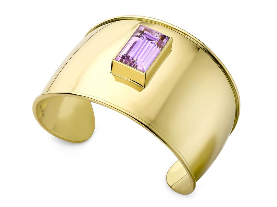 Theo Fennell one-of-a-kind 18ct yellow gold and amethyst cuff, $12,274