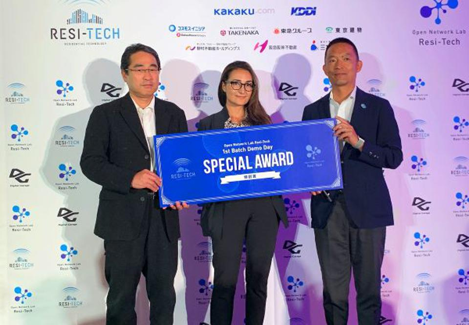Digital Garage CEO Hayashi Kaoru, Hasebe Ken, mayor of Tokyo's Shibuya Ward, Tania Coke