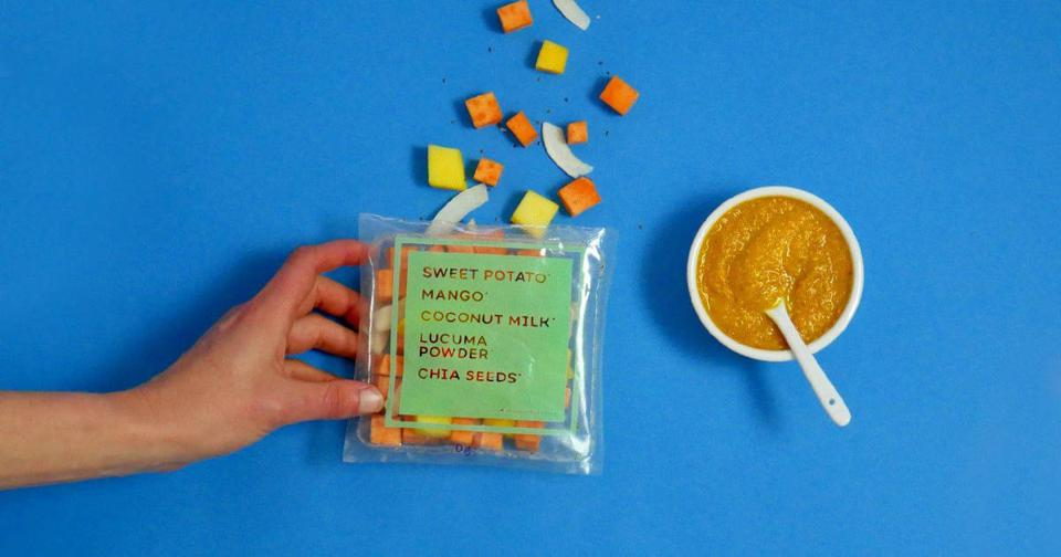 diet meal plan Diced and pureed baby food.