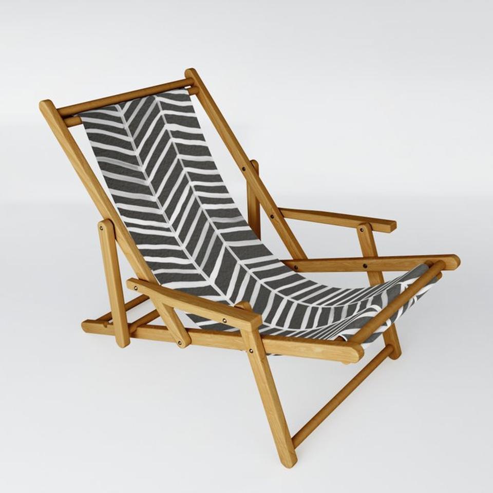 Society6 Black & White Sling Chair