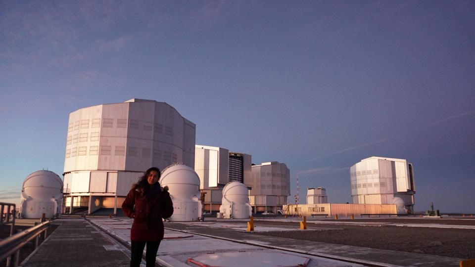Valentina Abril Melgarejo at the Very Large Telescope (VLT) in Chile, 2018