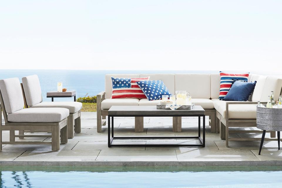 Pottery Barn outdoor furniture, sitewide sale