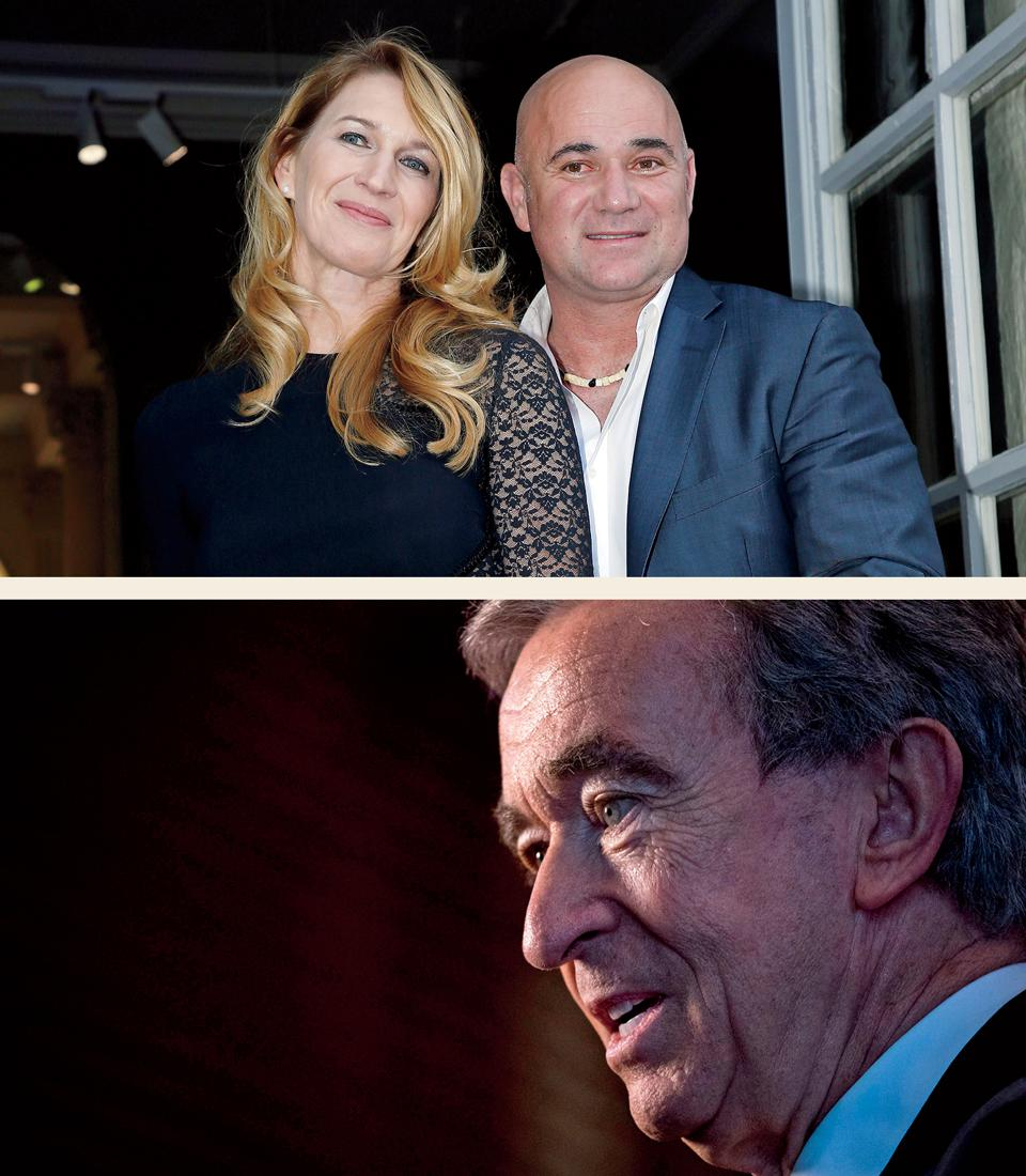 Pro Roster  Viagogo gained credibility thanks to early investors such as (from top) tennis pros Steffi Graf and Andre Agassi, and luxury-goods titan Bernard Arnault, whose Groupe Arnault is  still an investor.