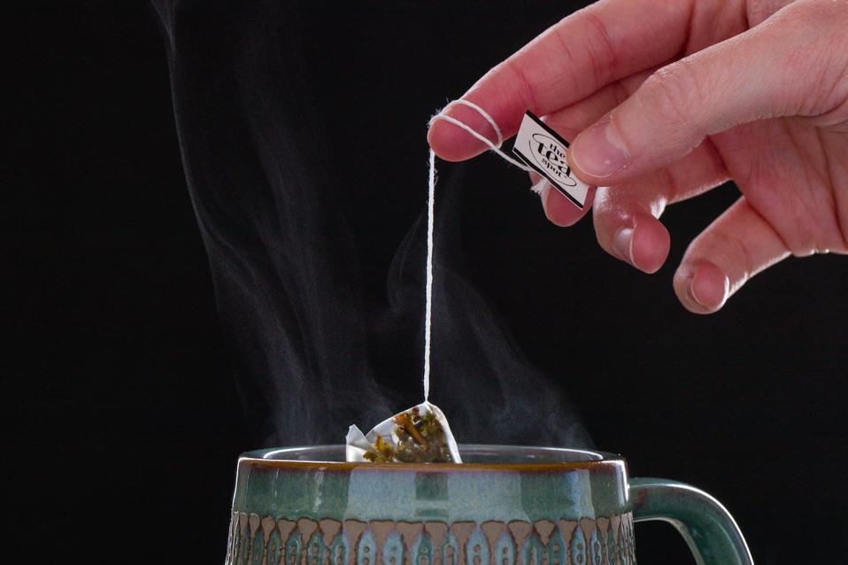 Brewing tea.