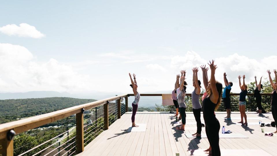Yoga at Beech Mountain Resort in North Carolina