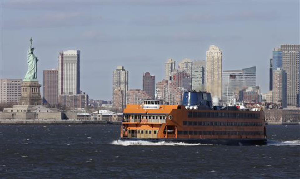 Taking the ferry to the mall