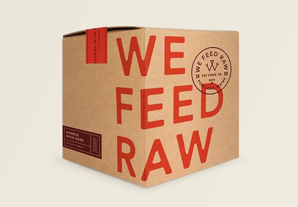 We Feed Raw Dog Food box