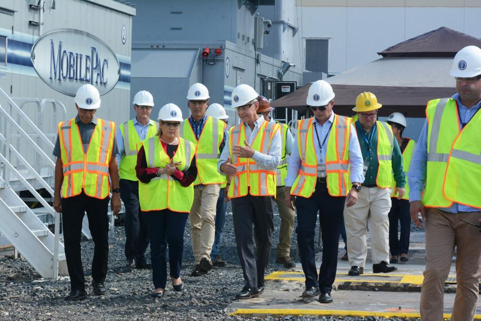 Government officials and utility leaders in Puerto Rico