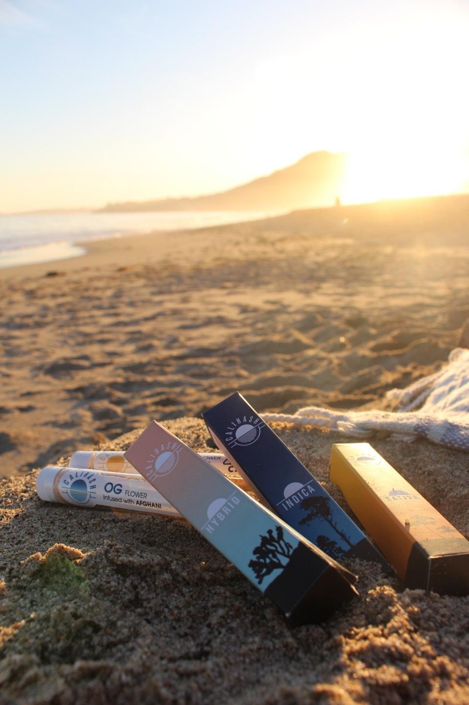 Calihash on the beach in California