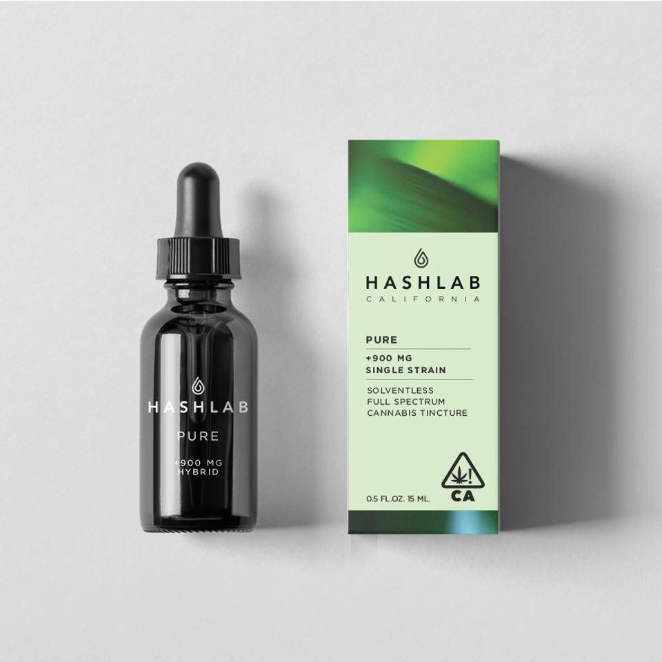 A bottle of Calihash tincture and the box