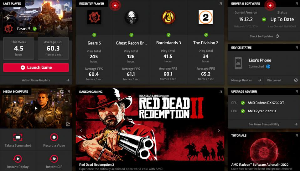 The Radeon Adrenalin dashboard packs in more features than any companion app on Linux