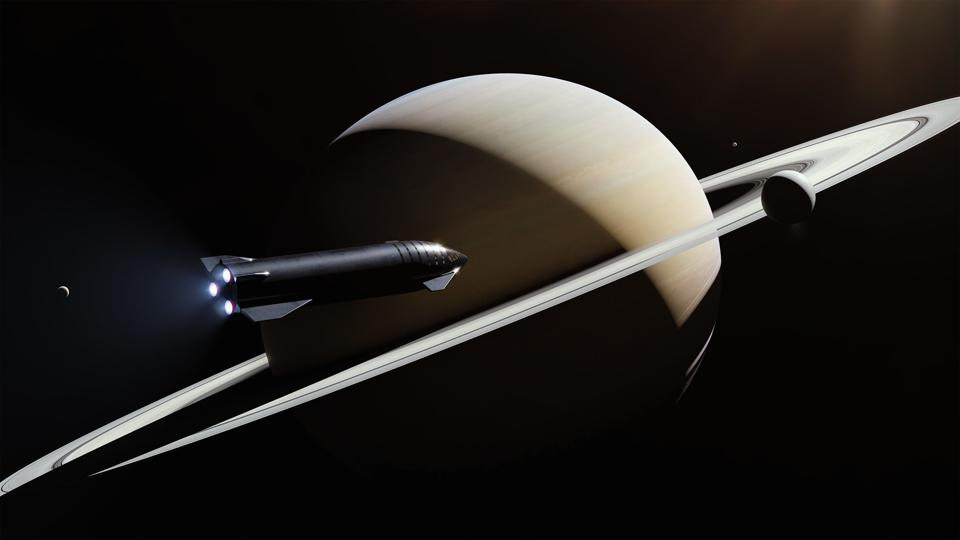 Starship at Saturn