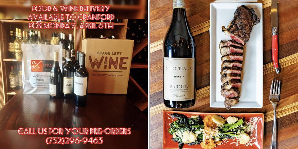 Stage Left in Brunswick, NJ pivoted to a complete at-home wine and dinner experience.