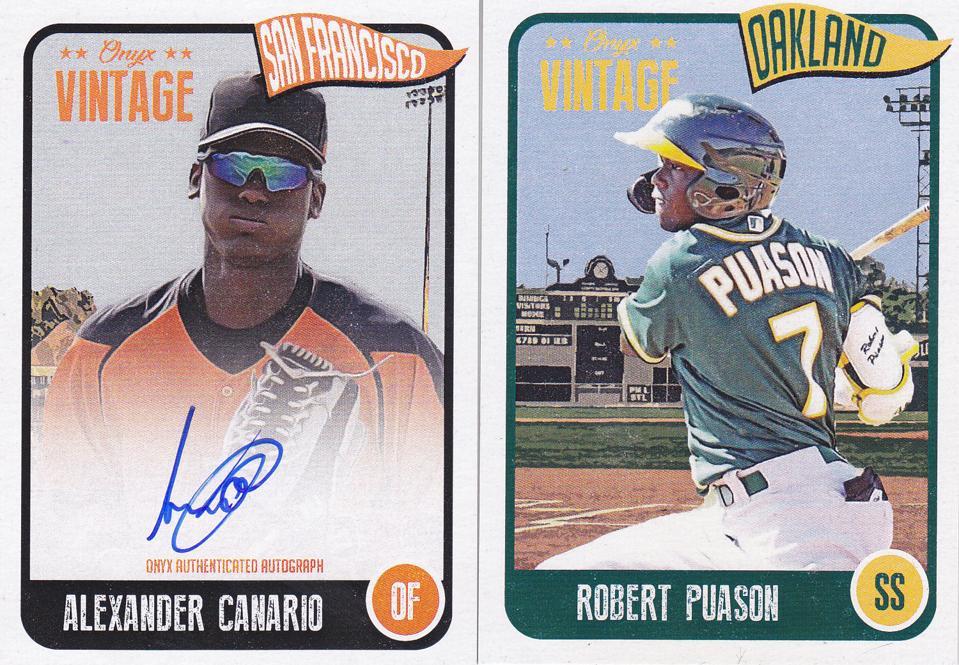 2020 Onyx Vintage Baseball Autographed and Base Set Cards