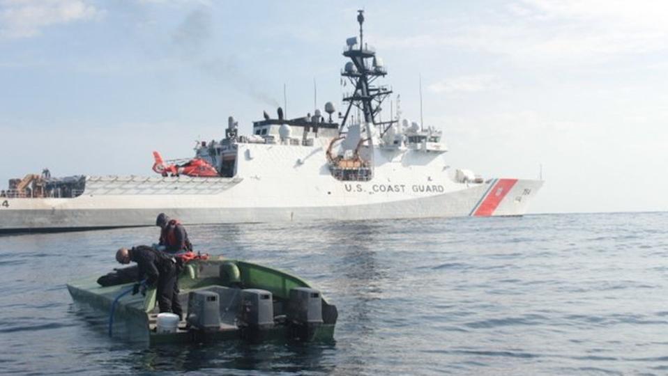 low profile drug smuggling vessel