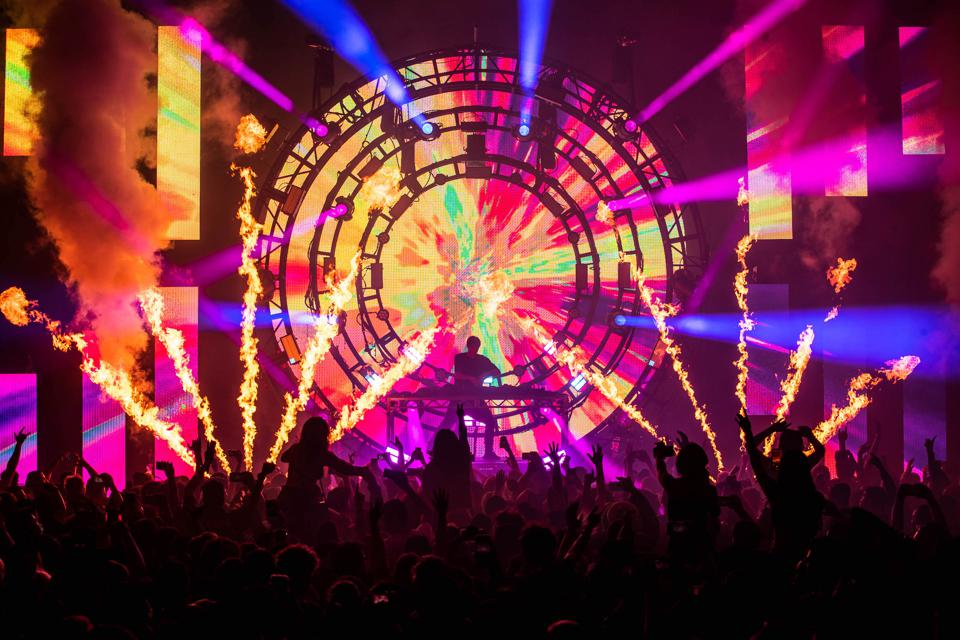 NGHTMRE performing a live show. He has headlined stages at numerous acclaimed festivals.