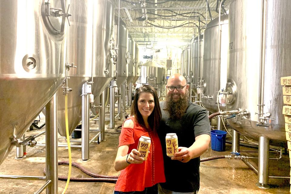 Jeremy Natalie Roberts of 903 Brewers  Craft Beer Tavour Brewery Sherman Texas