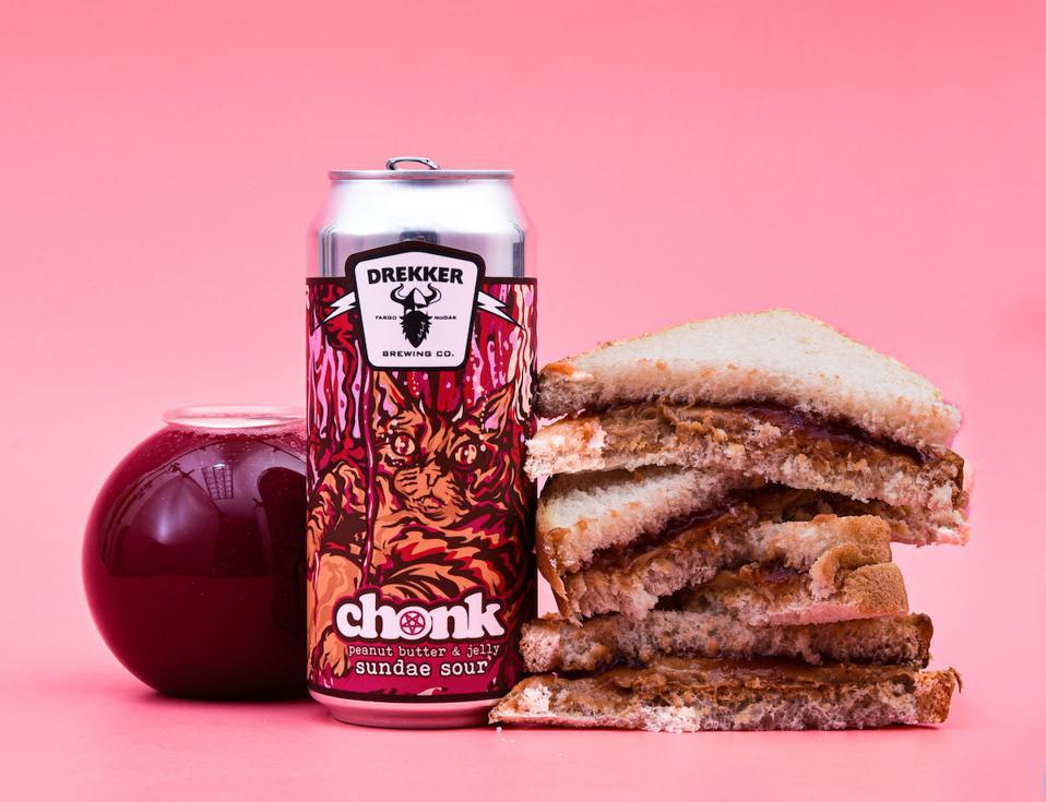 Drekker Brewery Chonk Peanut Butter & Jelly Sundae Sour Tavour Craft Beer Breweries
