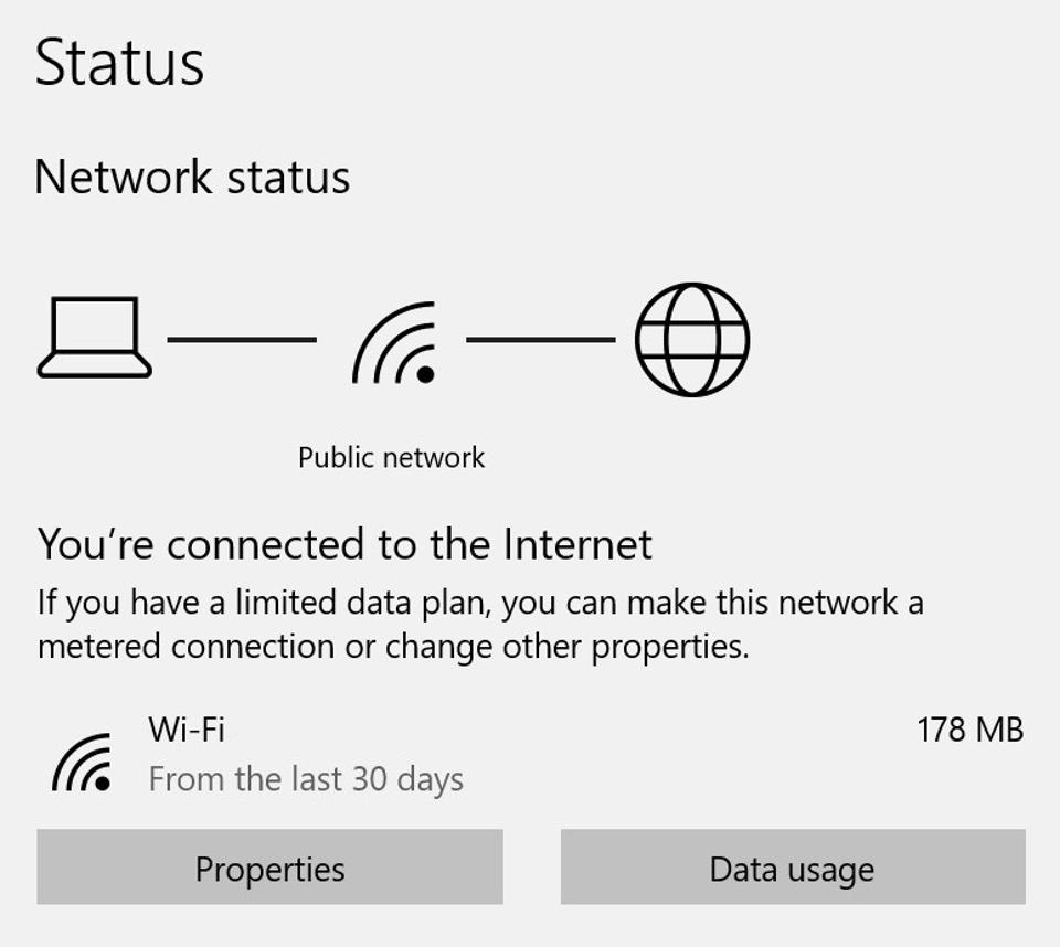 The new network status page