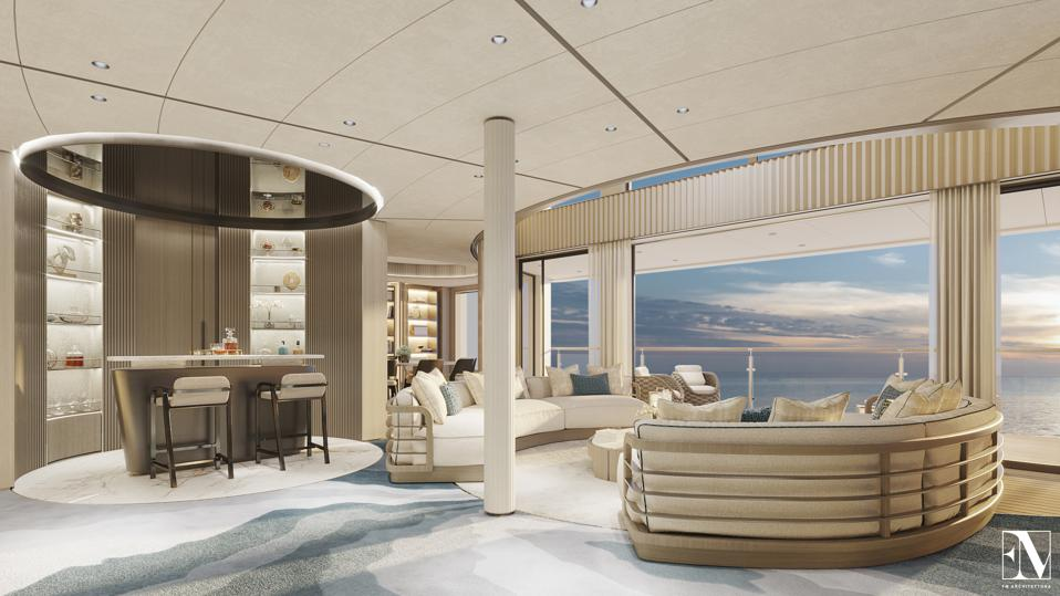 Here's an exclusive first look at the 954-foot-long private residence yacht NJORD.