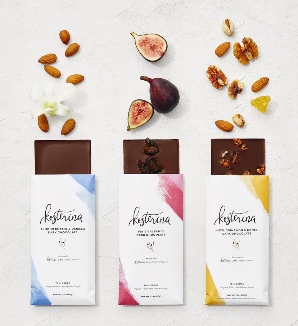 Kosterina Dark Chocolate Bars With EVOO