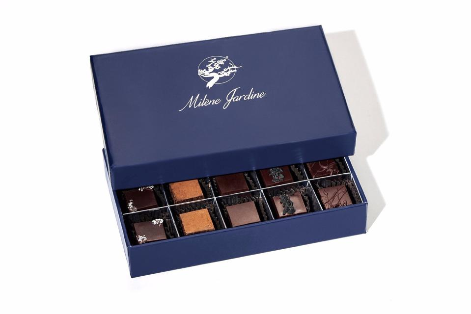 "Milène Jardine Chocolatier ""Live by Love"" Chocolate Truffle Gift Box"