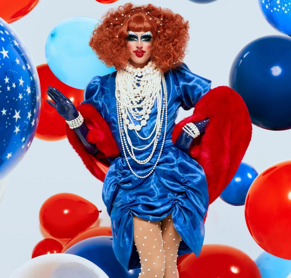 drag queen crystal methyd patriotic