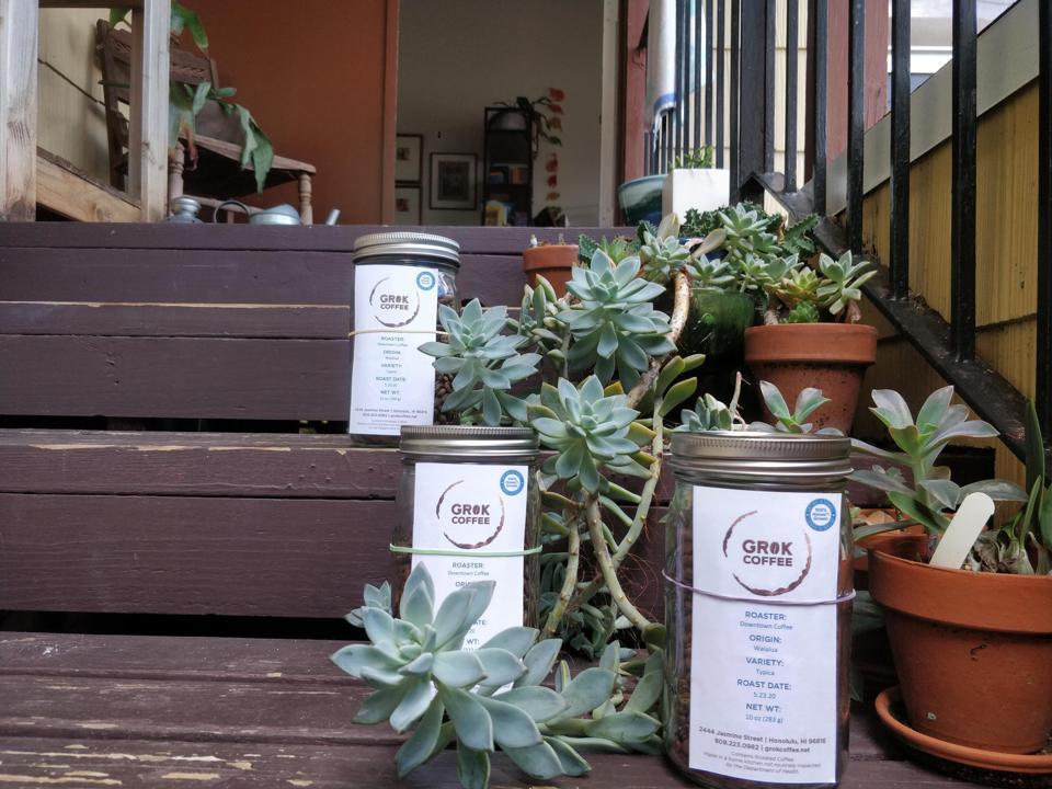 Grok delivers local coffee to your door in Honolulu, Hawaii.