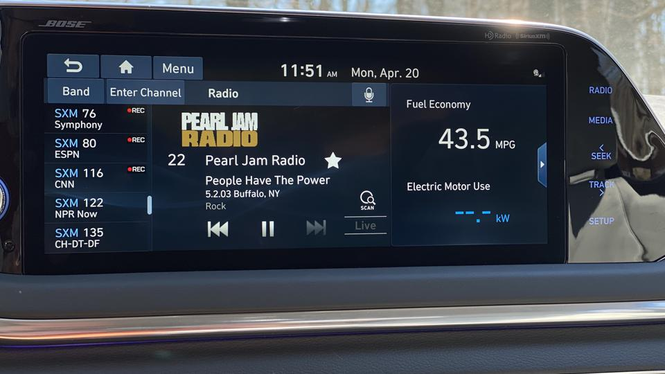 2020 Hyundai Sonata Hybrid Music Screen