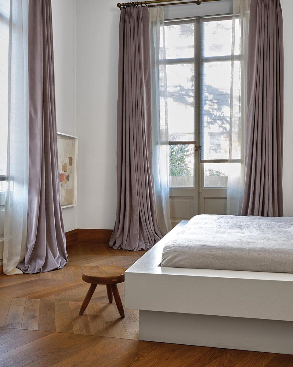 Try soothing neutrals in favorite shades and natural materials