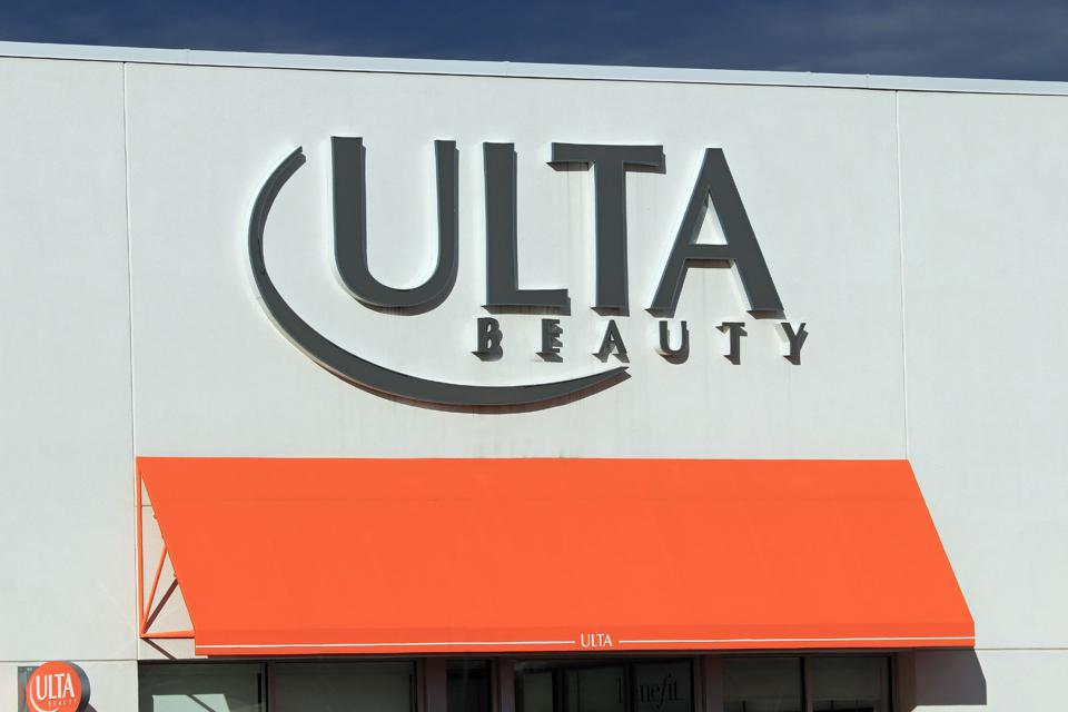 Ulta Beauty store entrance sign