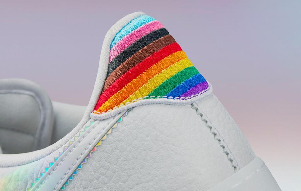 ten color rainbow heel Nike Air Force 1 running shoe