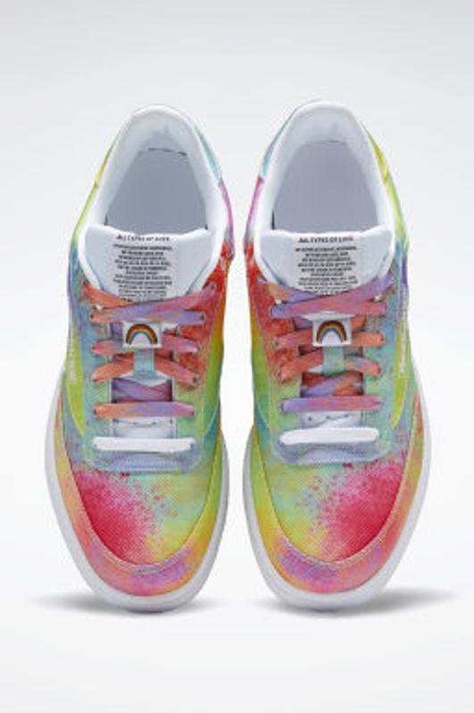 colorful Reebok sneakers Club C 95 Pride